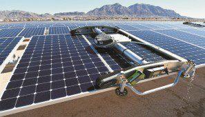 جهاز تنظيف ألي للألواح الشمسية