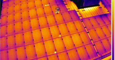 البقع الساخنة على اللوح الشمسي