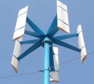 نموذج عنفة تعمل بطاقة الرياح عمودية المحور وتعمل وفق مبدأ الرفع