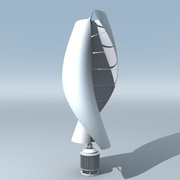 عنفة تعمل بطاقة الرياح عمودية المحور وفق مبدأ الجر