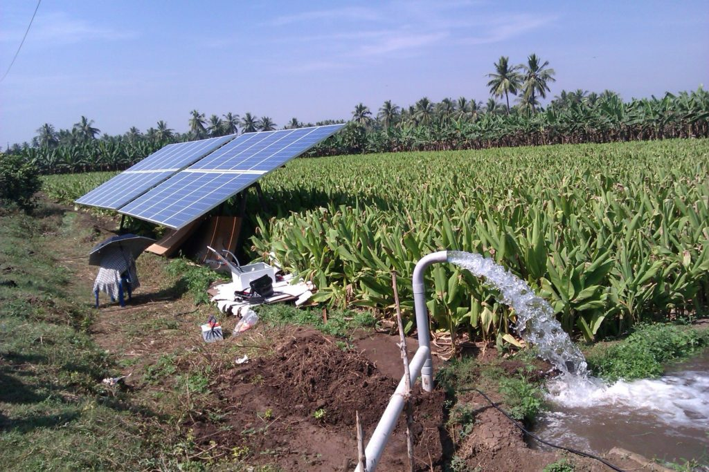 ضخ مياه الري باستخدام الألواح الشمسية الكهروضوئية في مصر