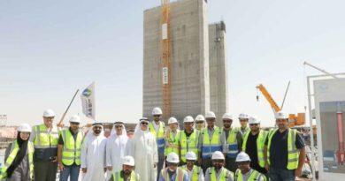 تقدم في أعمال المرحلة الرابعة من مجمع محمد بن راشد للطاقة الشمسية في دبي، الامارات