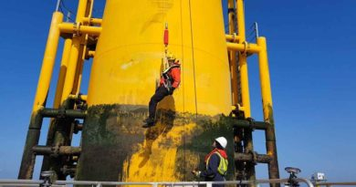 نظام الصعود بأمان Get up safe (GUS) Systemلحماية التقنيين وفنيي الصيانة في محطات الرياح البحرية Offshore