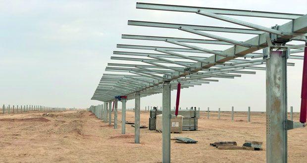 30% نسبة إنجاز مشروع أمين للطاقة الشمسية الكهروضوئية بقدرة 100 ميجاواط في سلطنة عمان
