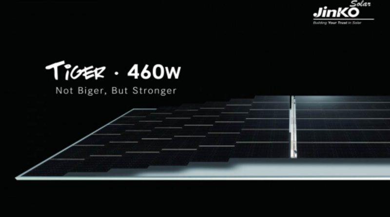 جينكو سولار الصينية Jinko Solar تطلق لوحها الشمسي «تايغر» الجديد بقدرة تصل إلى 460 واط