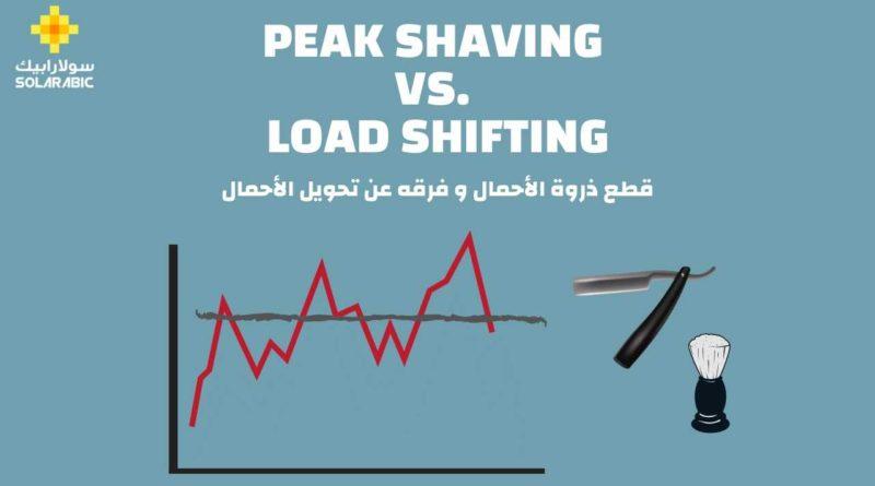 قطع ذروة الأحمال Peak Shaving و فرقها عن تحويل الأحمال Load Shifting