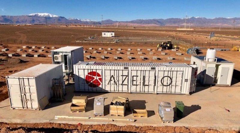 مشروع نظام تخزين الكهرباء التجريبي