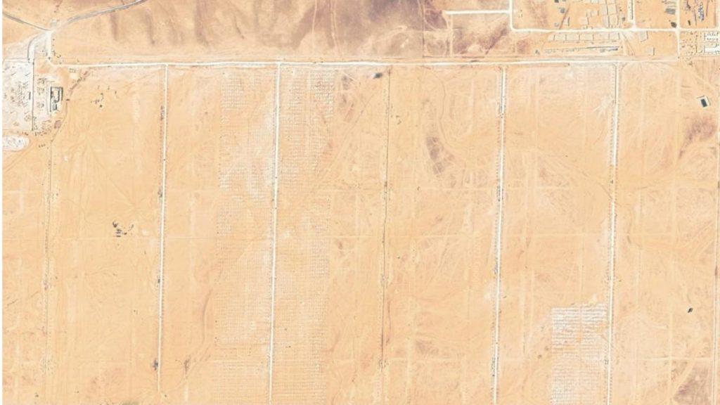 صورة باستخدام Drone لموقع محطة شمسية قبل البدء بتنفيذ المشروع