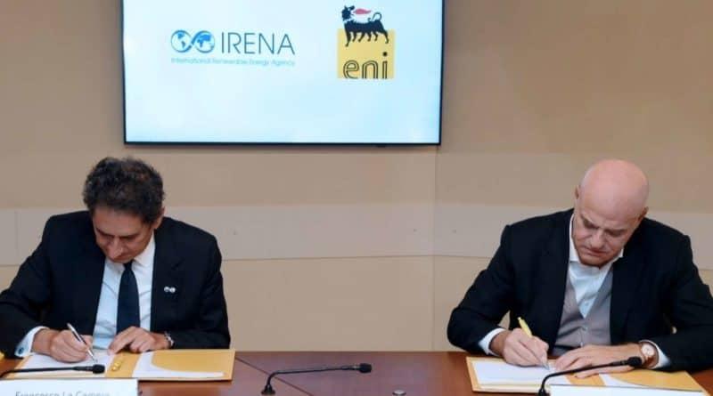 اتفاقية شراكة بين IRENA و Eni
