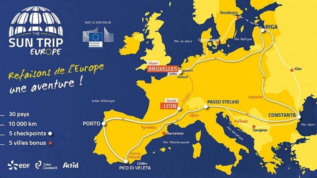 رحلة الشمس: ماراثون لاكتشاف أوروبا بطريقة شاملة