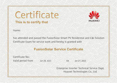 Huawei Installer Certificate